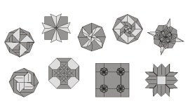 Flat geometric / Decorative